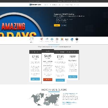 SmarterASP.NET HomePage Screenshot